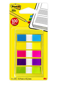 POST-IT 683 TEIPPIMERKKI 12X43MM 5VÄRX20