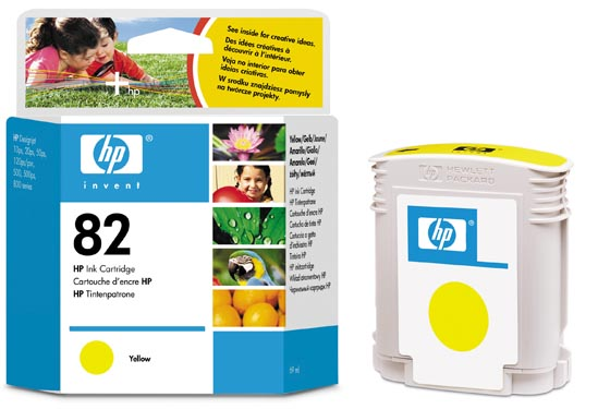 HP C4913A NO.82 VÄRIPATRUUNA YELLOW
