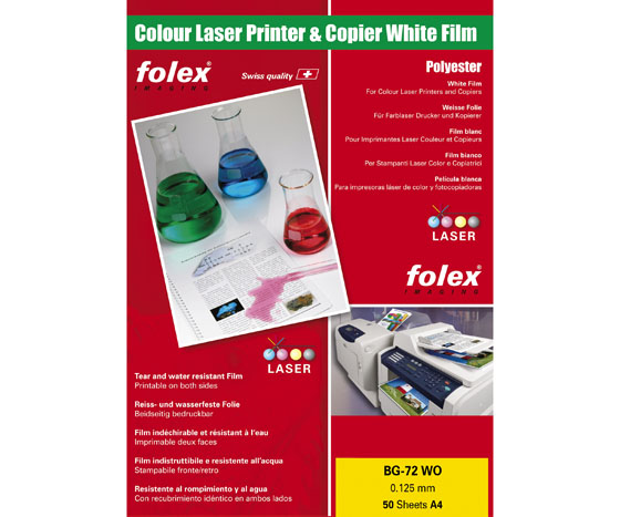 FOLEX WHITE OPAQUE FILM 125MIC A4/100