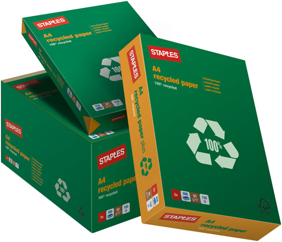 STAPLES 100% RECYCLED KOPIOPAPERI A3 80G