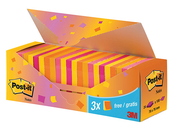POST-IT 654 76X76MM CABINET PACK /24